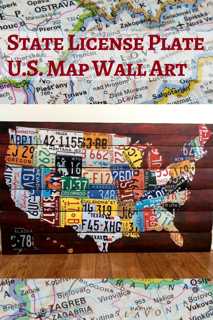 United States Map Made Of License Plates Best Usa Maps Ideas On - Us map made out of license plates