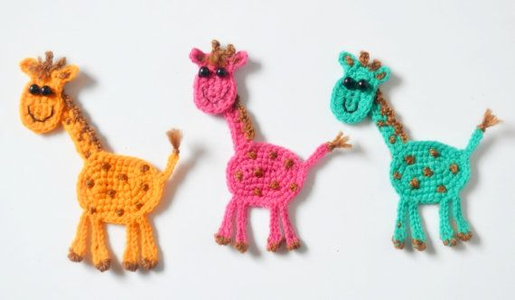 This listing is for instant download PDF CROCHET PATTERN, not a finished item.    Giraffe applique, Pattern No. 107    The pattern for these