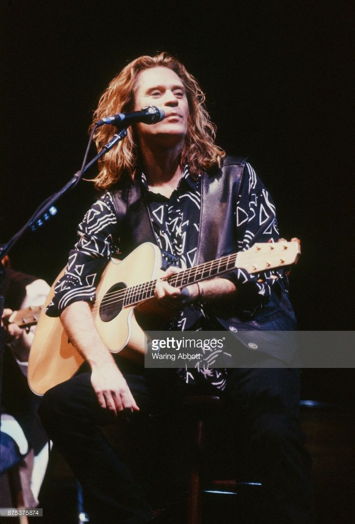 Daryl Hall of American musical duo Hall and Oates performing at the Beacon Theatre on February 25, 1991 in New York City.