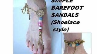 how to make macrame barefoot sandals - YouTube