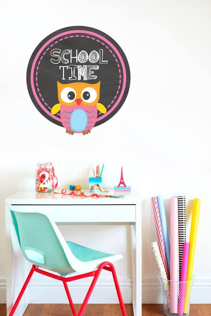 Ξημερώνει μια νέα μέρα...ώρα για σχολείο ... -20% έκπτωση  Αυτοκόλλητο τοίχου: http://www.houseart.gr/details.php?id=339&pid=13089  #Houseart #stickers #school_time #owl #kids #decoration #stickers