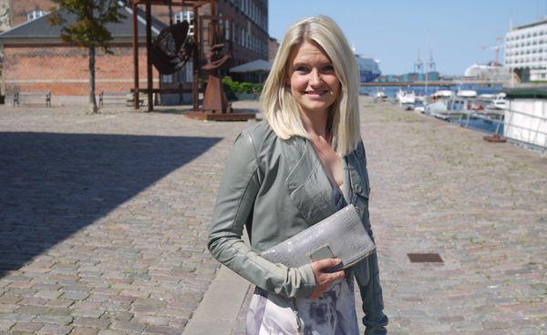 Louise wearing Rützou leather jacket