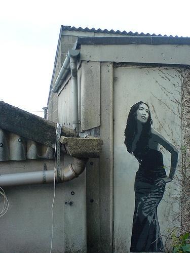 #streetart #zhe155  ZHE155-Chinese-Girl-4-layer-stencil
