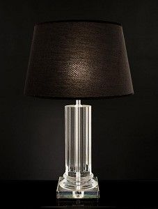 Solid Crystal column lamp from £99 www.thecurtainbar.com #Womaninbiz #udobiz