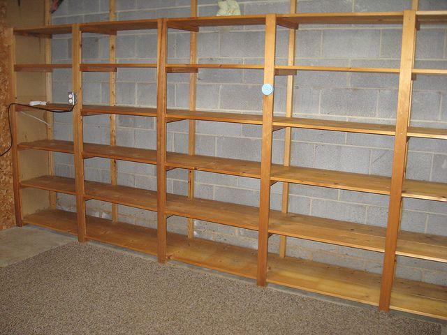 unfinished basement-- shelves!   Flickr - Photo Sharing!