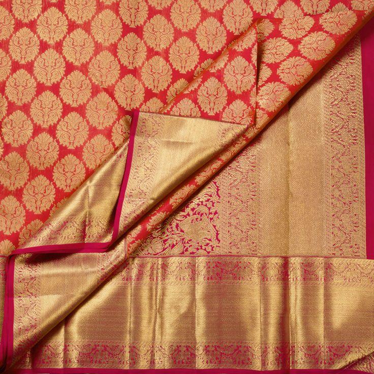 Kanakavalli Handwoven Kanjivaram Silk Sari 1008512 - Sari / All Saris - Parisera