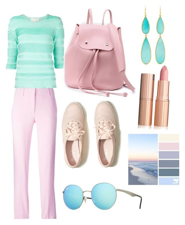 """""""travel day 2017"""" by mizala on Polyvore featuring Christian Siriano, Emilio Pucci, Hollister Co., Ippolita and Ray-Ban"""