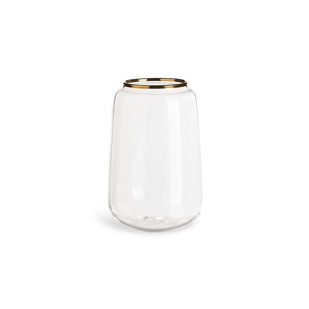 Vase Goldrand D 9 5cm X H 14 5cm Gold Depot Online Gold Vase