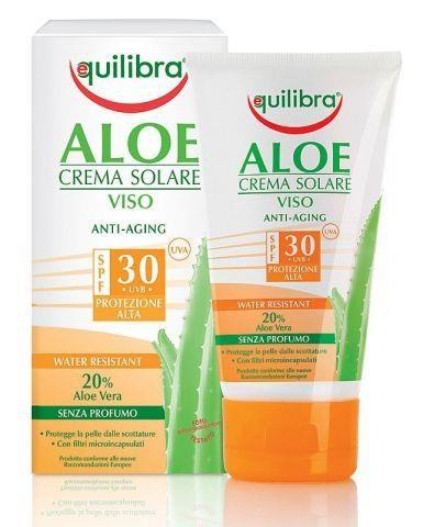 Consiglio: utilizzate al mattino una Crema Solare Viso per preservare il vostro incarnato naturale e la pelle dall'invecchiamento. Linea ALOE Creme Solari di EQUILIBRA