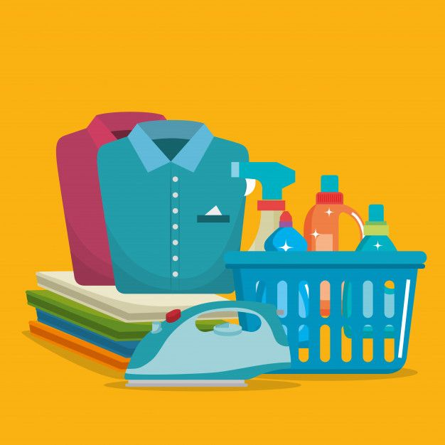Download Laundry Service Set Products For Free Laundry Service