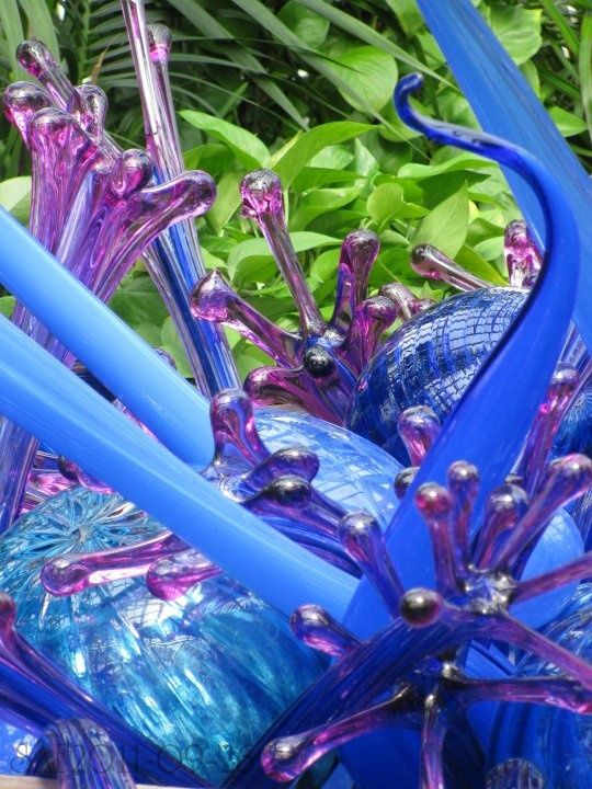 Dale Chihuly glass sculpture at Franklin Park Conservatory, Columbus, Ohio