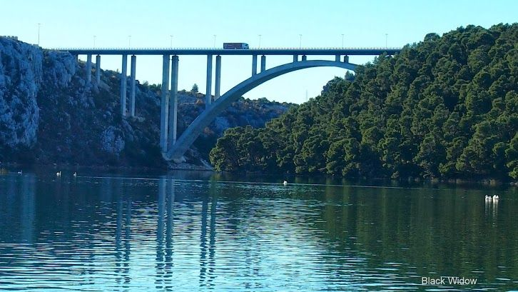 New bridge on river Krka , near Skradin , Croatia !