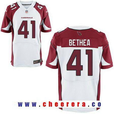 mens arizona cardinals 41 antoine bethea white stitched nfl nike elite jersey