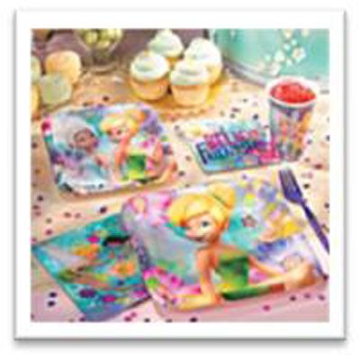 Save yourself time and money with a Tinkerbell Party Pack - tableware, decorations and party bags for 16 kids.