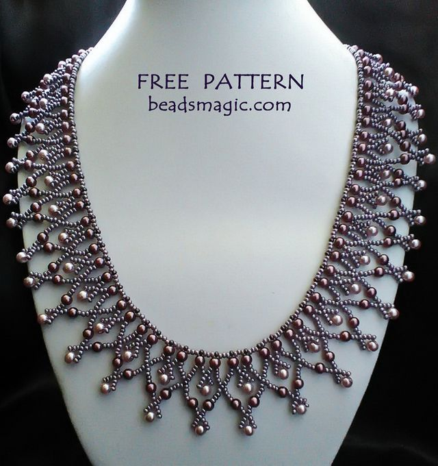 Free pattern for necklace Tayana (Beads Magic)