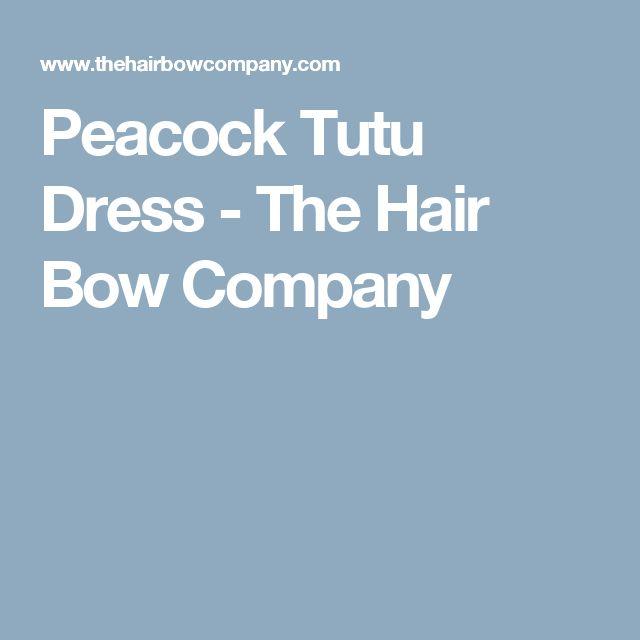 Peacock Tutu Dress - The Hair Bow Company