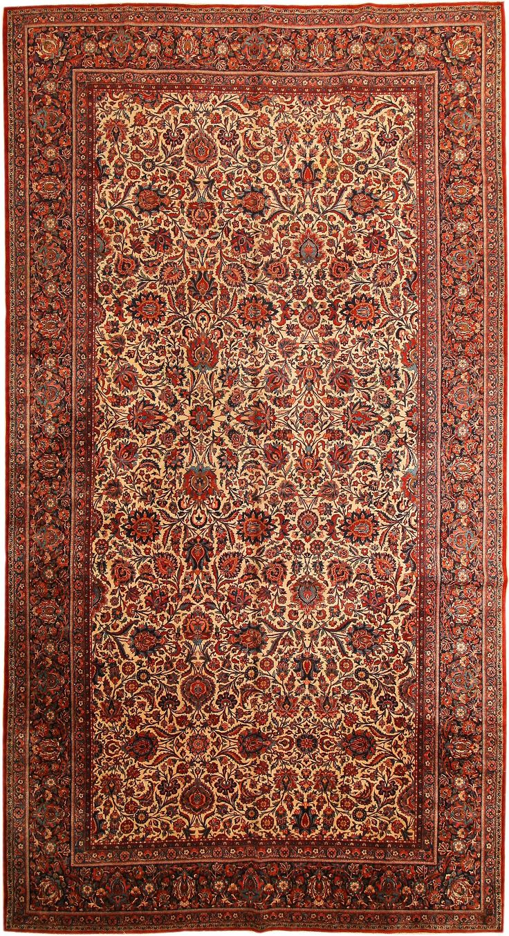 Antique Kashan Persian Rug 43522 Detail/Large View - By Nazmiyal
