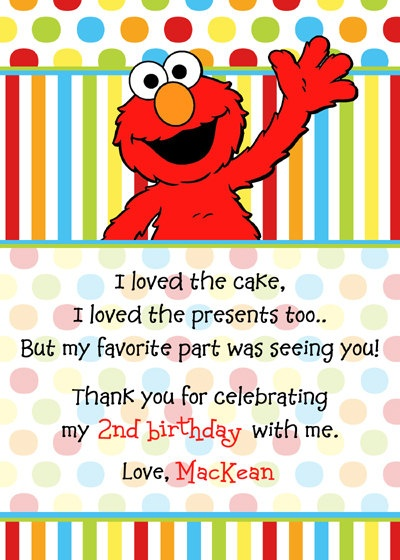 Thank You Saying Thank You Pinterest Elmo Birthdays And Elmo