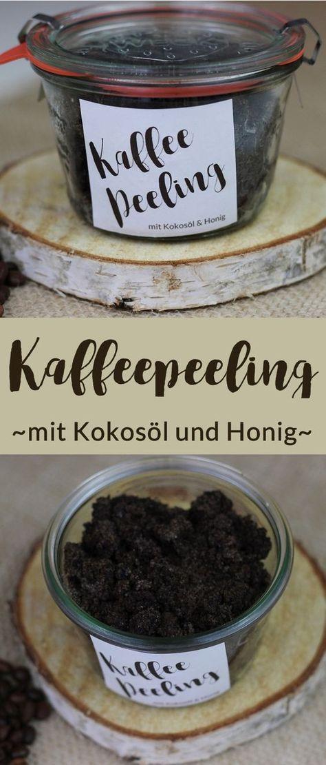 Kaffeepeeling mit Kokosöl und Honig selbst machen