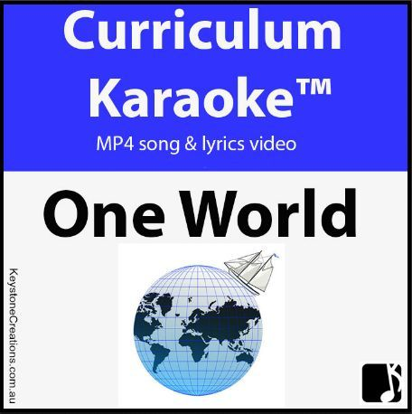 PREVIEW song AUDIO, lyrics & images of our teacher-created, curriculum-aligned, READ, SING & LEARN along Curriculum Karaoke™️ song. 'One World' song & images not only help students to learn about, understand other cultures, and embrace diversity, it extends literacy and is PERFECT for  school assemblies and performances!  **DETAILS & Downloadable: https://www.teacherspayteachers.com/Product/ONE-WORLD-MP4-Curriculum-Karaoke-READ-SING-LEARN-about-multiculturalism-3220895