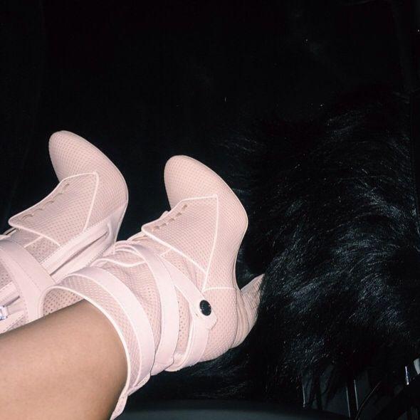 Her new shoe's  I loooooove them