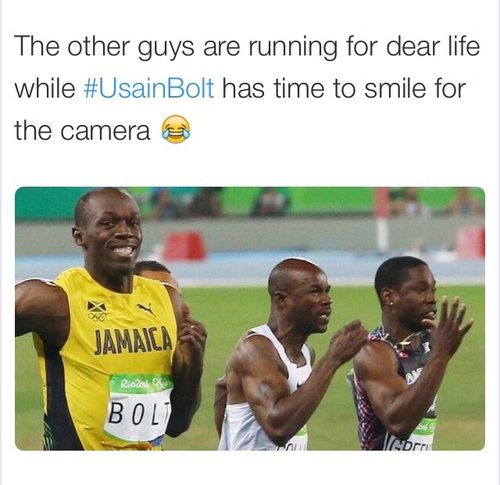 funny and usain bolt image