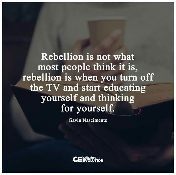 Truth be told...   And rebellion may be the act of not buying products or services or using credit cards from predatory providers.  It's what we can effectively do to stop the Fascism and Oligarchy against our Democracy.