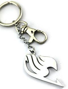 Plus d'accessoires Inspiré par Fairy Tail Lucy Heartfilia Anime Accessoires de Cosplay Porte-clés Argenté Alliage