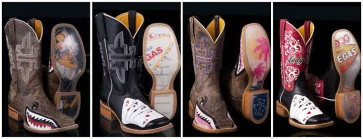 Tin Haul Women's Guns 'N' Roses Cowgirl Boots | Cowboy boot ...