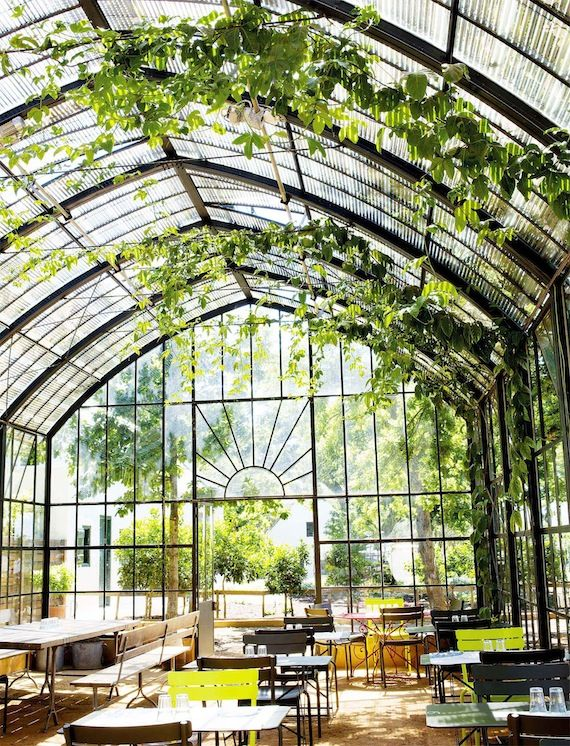 Conservatory at Babylonstoren - on the hotel grounds in South Africa's Cape Winelands.