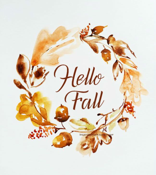 High Quality Autumn Quote   Hello Fall In Brown Tones