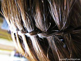 """Mój świat fryzur : 1. """"Waterfall Twist"""" czyli warkocz wodospad"""