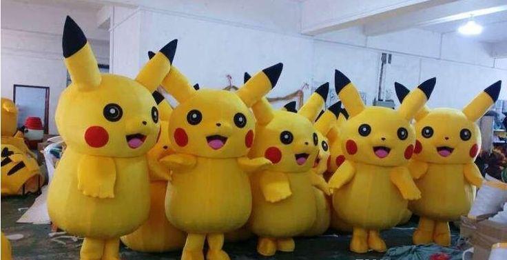 New Adult Child Pikachu mascot fancy dress costume - http://fashionfromchina.net/?product=new-adult-child-pikachu-mascot-fancy-dress-costume