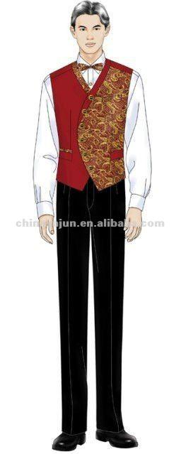 Restaurant Waiter Uniform Fashion estaurant uniform designs