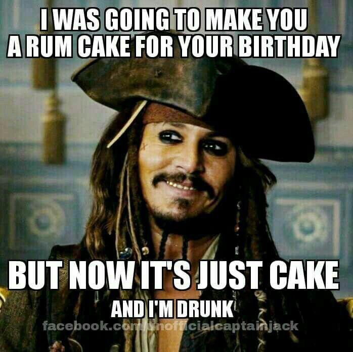 Jack Sparrow Birthday Cake