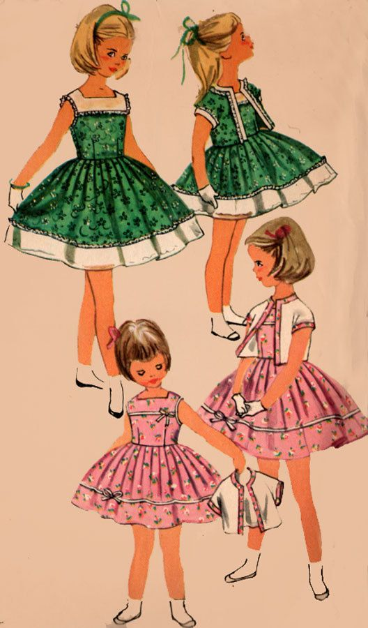 Vintage 50s Simplicity 1978Toddler Girls Sleeveless by sandritocat
