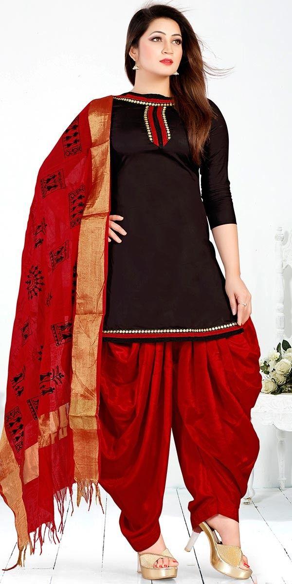Memorable Black Cotton Salwar Suit With Dupatta.
