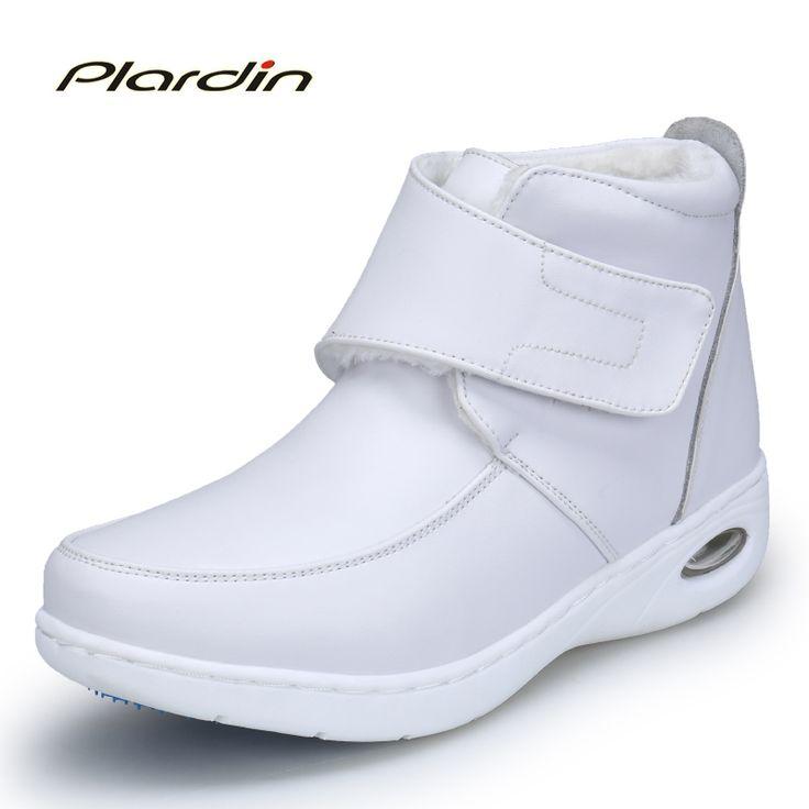 plardin 2017 winter Woman Pure white Nurse shoes women Platform Air cushion buckle strap casual Antiskid martin boots shoes #Affiliate
