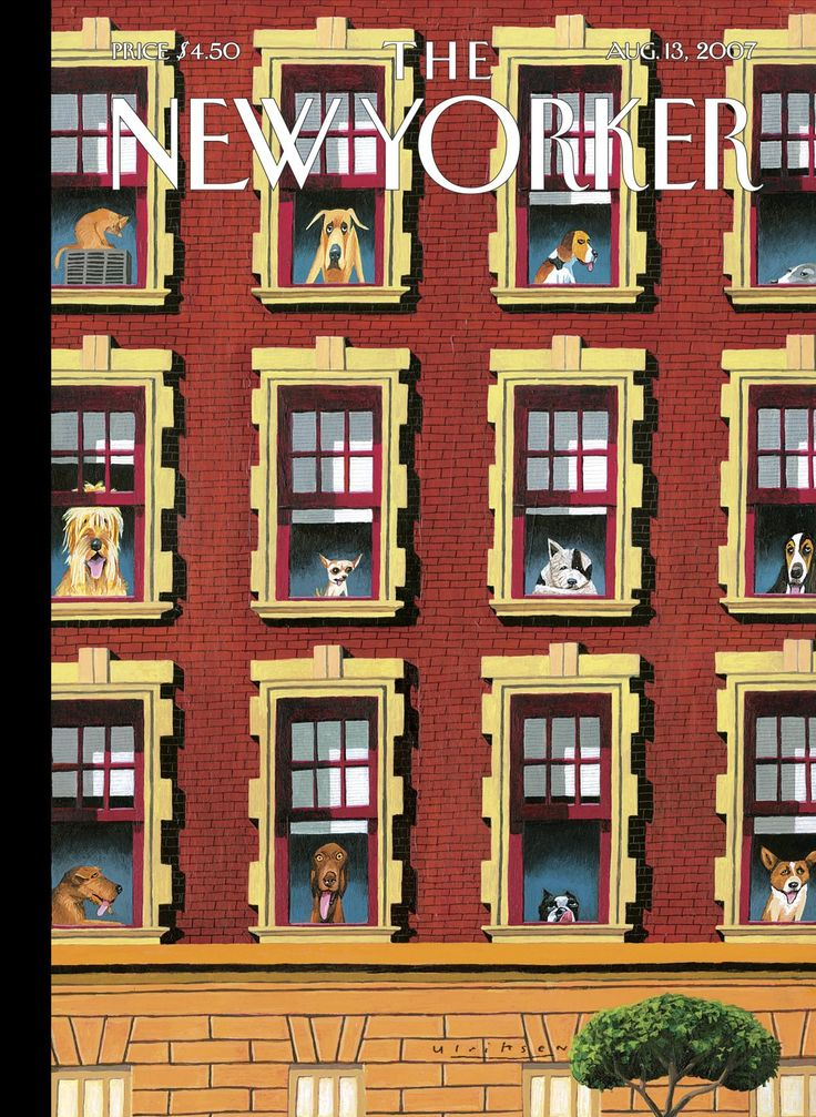 "The New Yorker - Monday, August 13, 2007 - Issue # 4226 - Vol. 83 - N° 23 - Cover ""Hot Dogs"" by Mark Ulriksen"