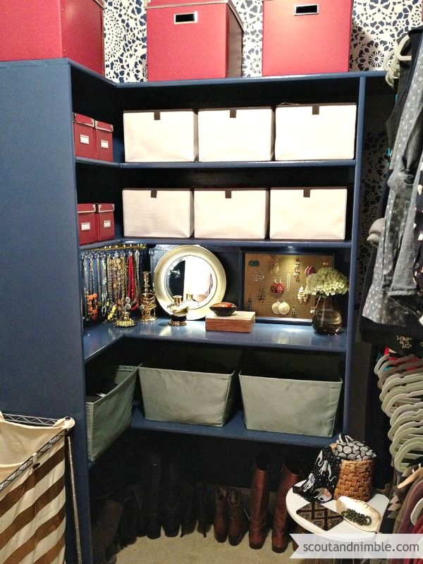 Closet Makeover Shelves Of Storage