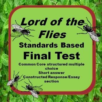 lord of the flies response to After you read the indicated sections, choose the questions to which you will respond almost all chapters have several choices for you to choose from.