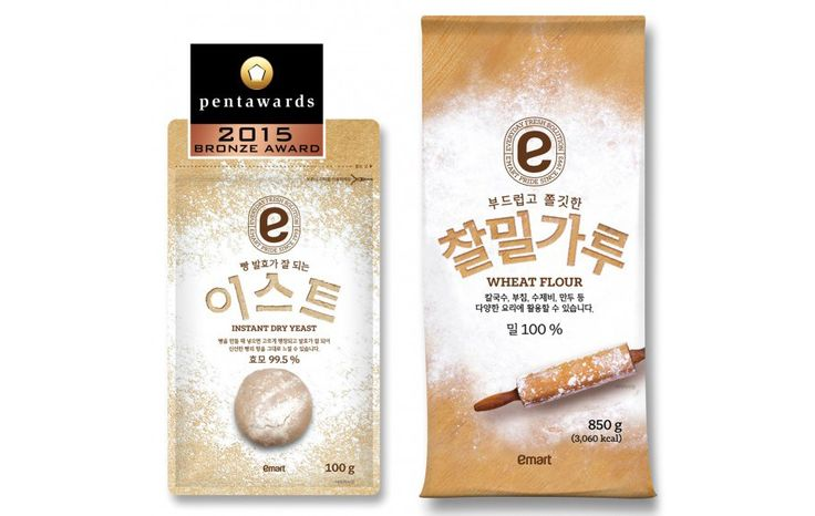 emart Wheat Flour And Dry Yeast on Packaging of the World - Creative Package Design Gallery