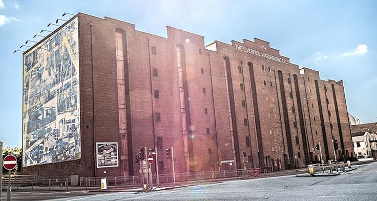 exterior of victoria warehouse with mural 1