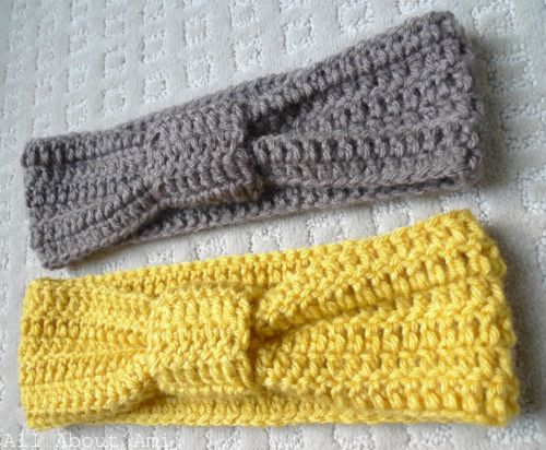 Crocheted knot headband