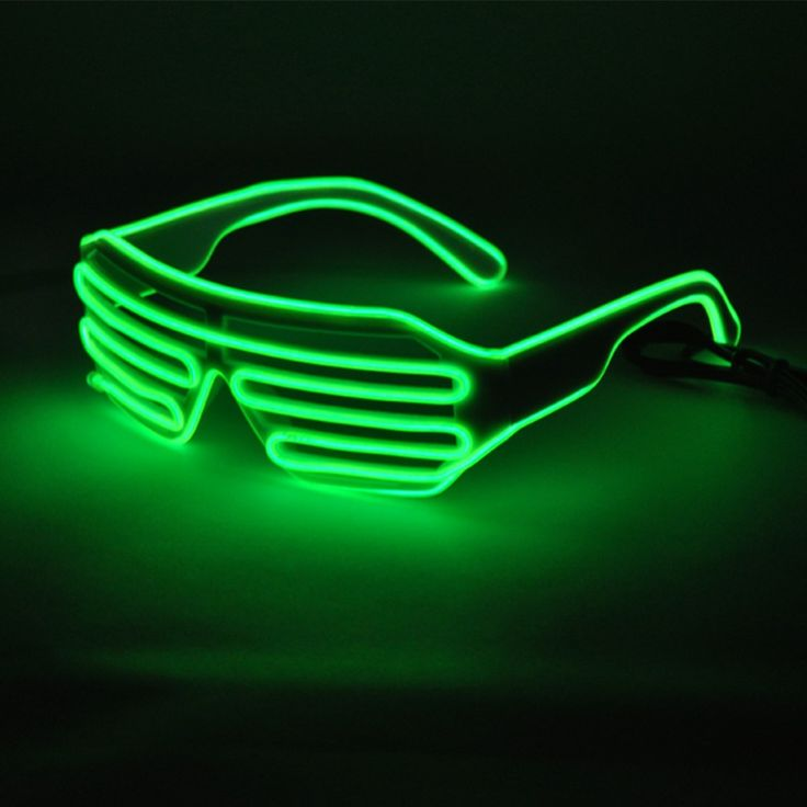 Flashing Sunglasses EL Wire Party Favors Costume Novely LED Multi Color Shutter Shaped Rave Glasses for Party Decorations