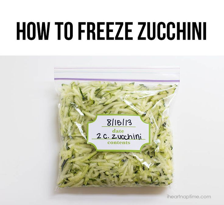 Tips on how to freeze your zucchini so you'll have it for months to come! #cooking #tips