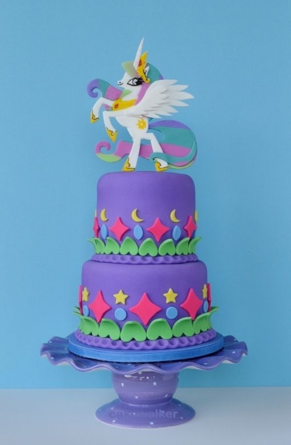 My Little Pony themed birthday cakecake my little pony cake birthday party cake girl pink blue rainbow