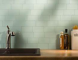 Aspect Backsplash 3x6 Glass Tile In Morning Dew