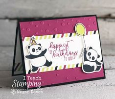 Stampin Up Party Pandas (SAB Item 2018)