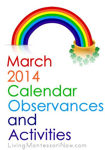 Lots of themed activities and calendar observances throughout March 2014